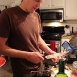 Jason cooking