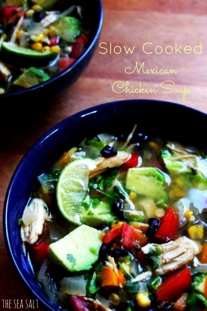 Slow Cooked Mexican Chicken Soup