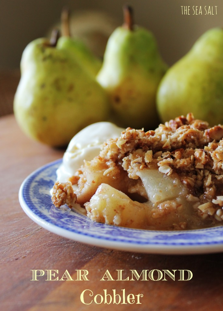 Pear Almond Cobbler