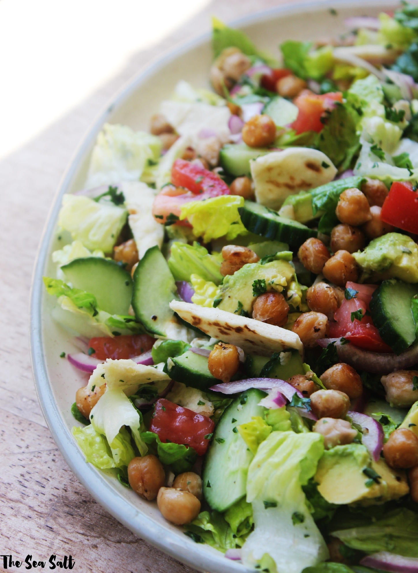 Fattoush Salad with Crispy Chickpeas