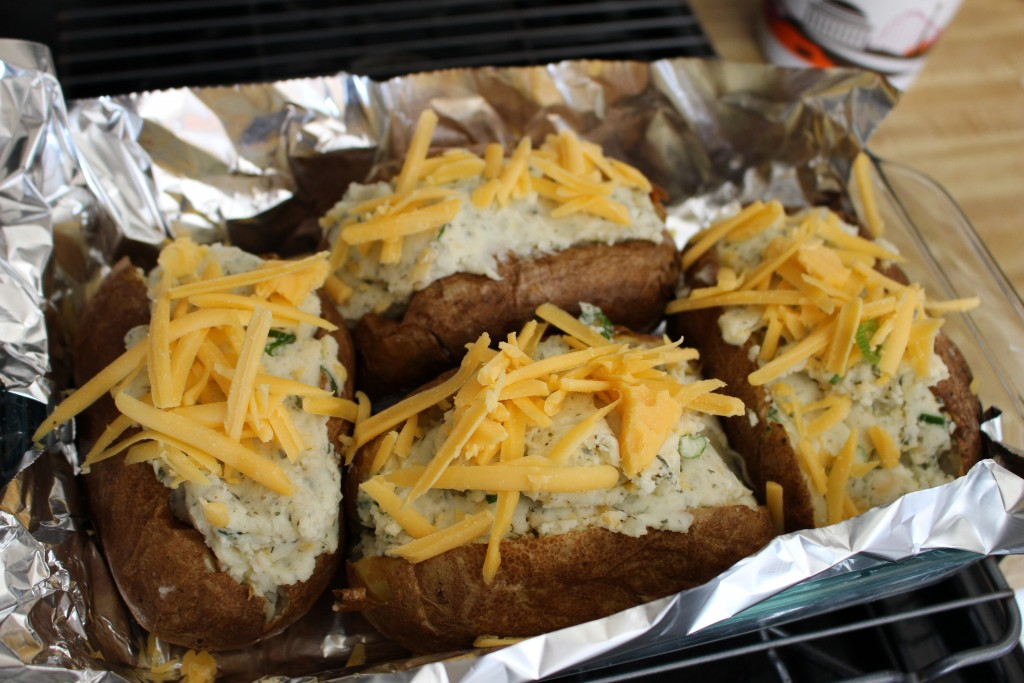 Ranch Twice Baked Potatoes with Cheddar