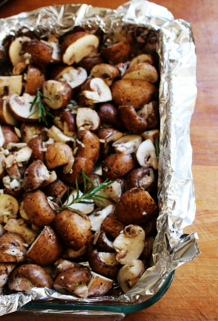 Rosemary & Garlic Roasted Mushrooms