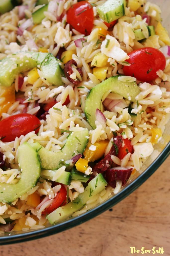 Lemony Dill Orzo Salad