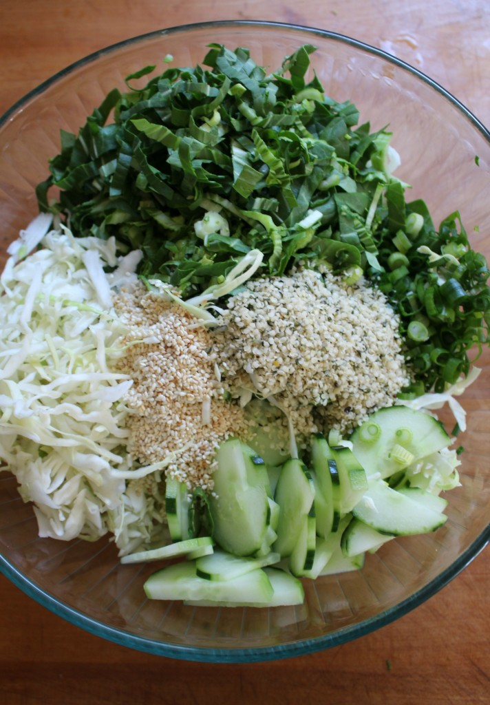 Bok Choy Salad with Hemp Seed