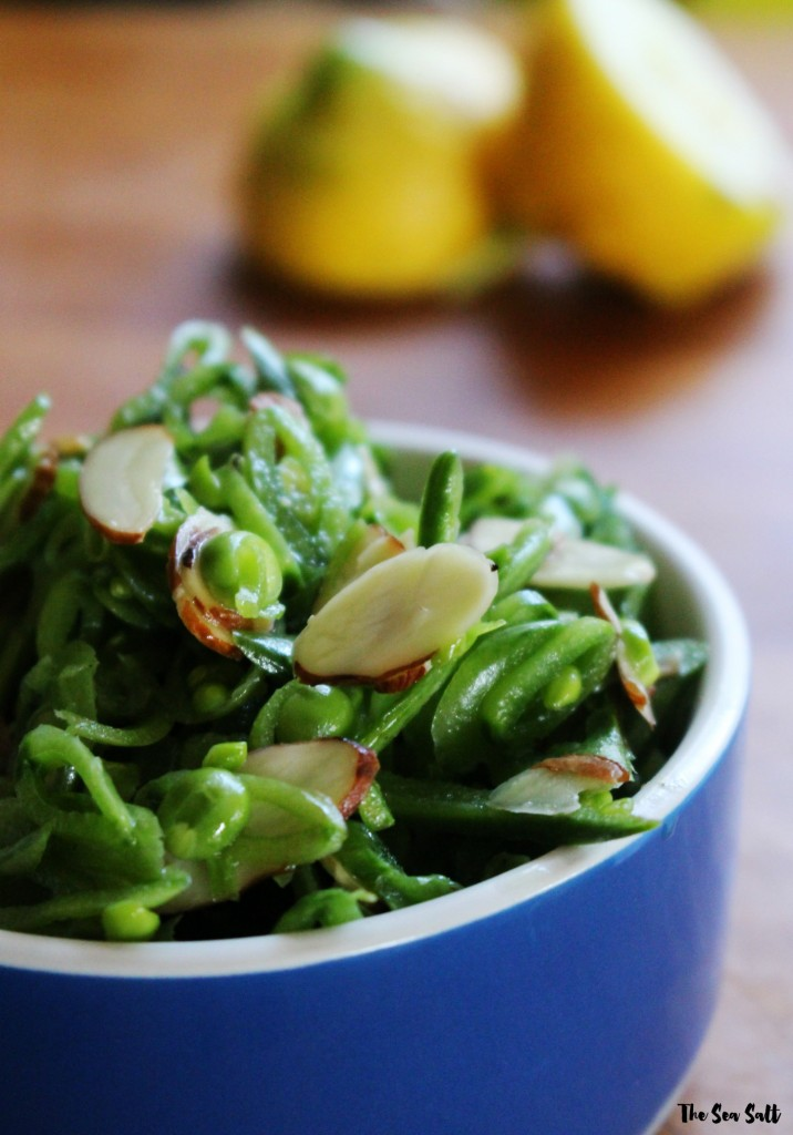 Snap Pea Slaw with Almonds