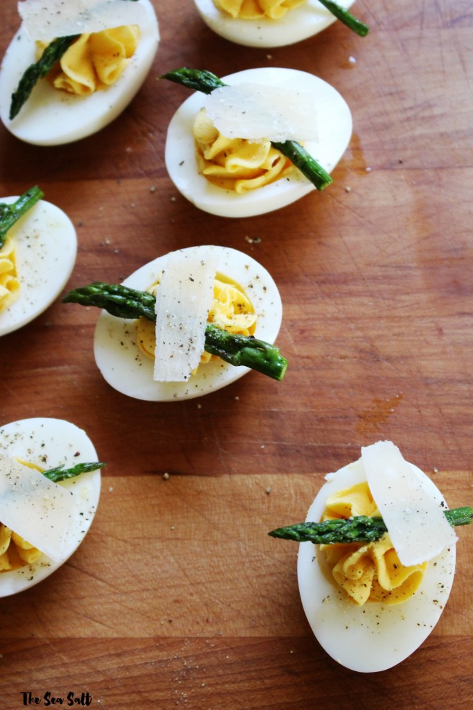 Deviled Eggs with Asparagus & Parmesan
