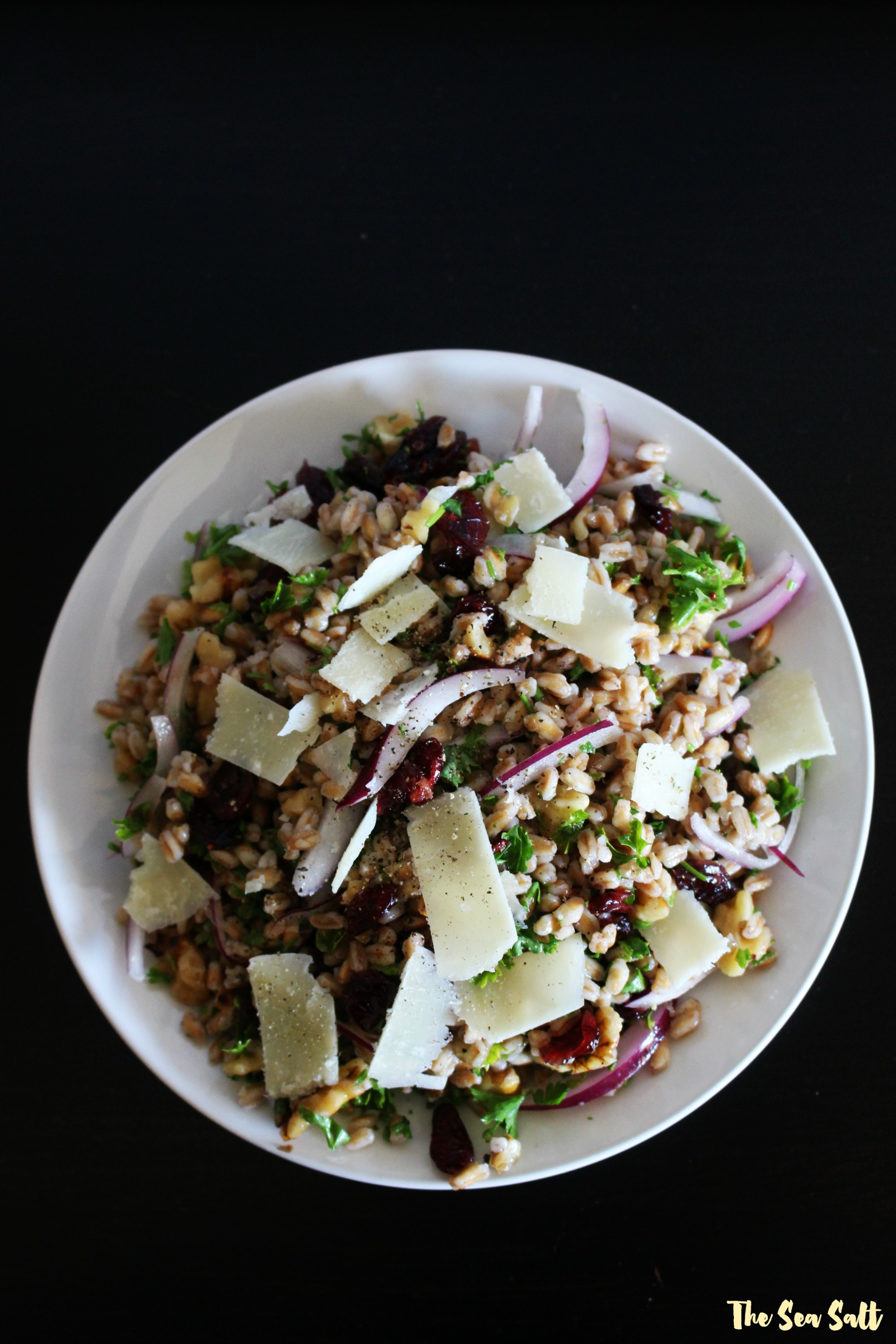 Farro Salad with Walnuts, Parmesan and Cider Vinaigrette