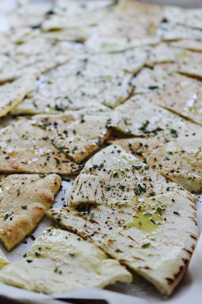Oven-Baked Pita Chips with Fresh Herbs