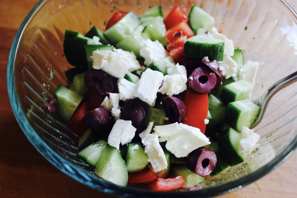 Greek Salad (and dressing) for One