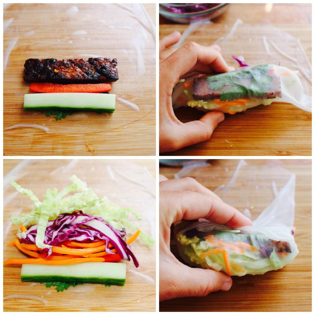 Veggie Spring Rolls with Crispy Tofu