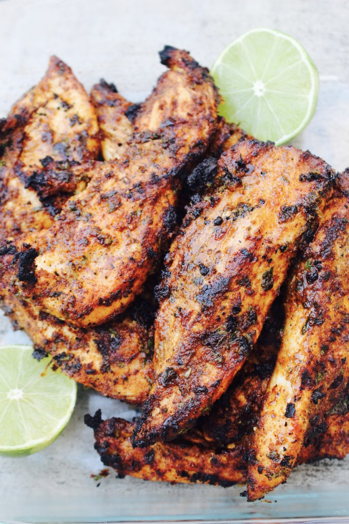 Grilled Taco Chicken with Lime and Cilantro
