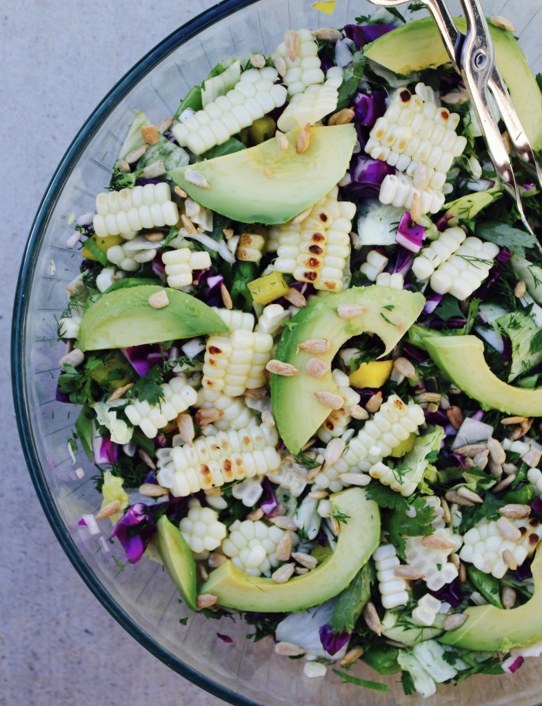 California Chopped Salad with Dill & Grilled Corn