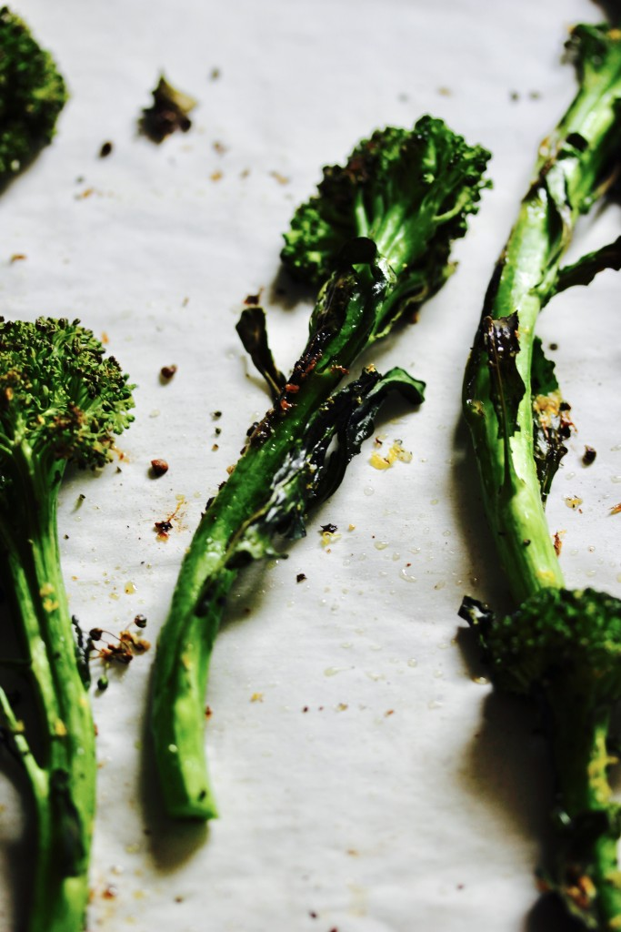 10 Minute Lemon Roasted Broccolini
